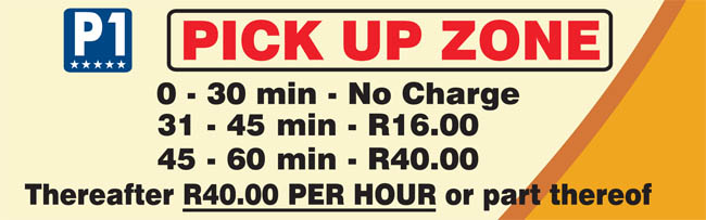 cape town airport pickup zone