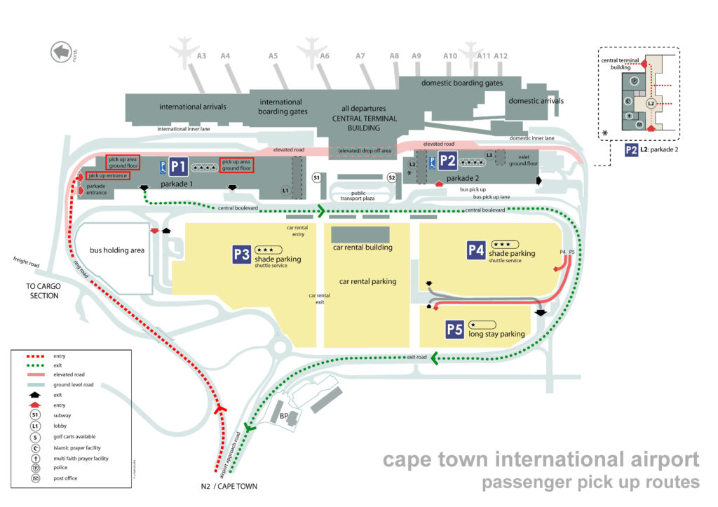 cape town airport passenger pickup parking