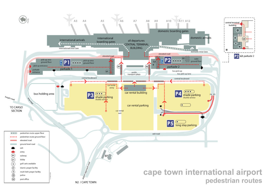 cape town airport pedestrian route