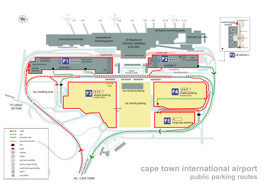 cape town airport public parking
